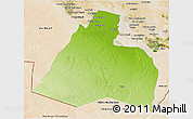 Physical 3D Map of Al-Muthannia, satellite outside
