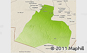 Physical 3D Map of Al-Muthannia, shaded relief outside