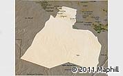 Satellite 3D Map of Al-Muthannia, darken