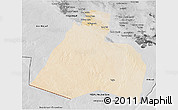 Satellite 3D Map of Al-Muthannia, desaturated
