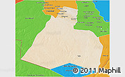 Satellite 3D Map of Al-Muthannia, political outside