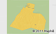 Savanna Style 3D Map of Al-Muthannia, single color outside