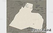 Shaded Relief 3D Map of Al-Muthannia, darken