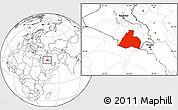 Blank Location Map of Al-Muthannia