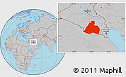 Gray Location Map of Al-Muthannia