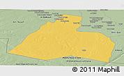 Savanna Style Panoramic Map of Al-Muthannia