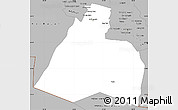 Gray Simple Map of Al-Muthannia