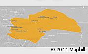 Political Panoramic Map of Al-Qadisiyah, lighten, desaturated