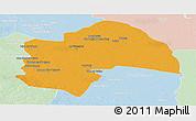 Political Panoramic Map of Al-Qadisiyah, lighten