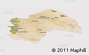 Satellite Panoramic Map of Al-Qadisiyah, cropped outside