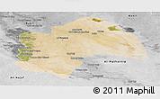 Satellite Panoramic Map of Al-Qadisiyah, desaturated