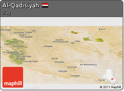 Satellite Panoramic Map of Al-Qadisiyah