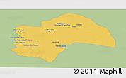 Savanna Style Panoramic Map of Al-Qadisiyah, single color outside