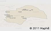 Shaded Relief Panoramic Map of Al-Qadisiyah, lighten