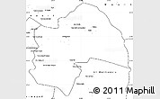 Blank Simple Map of Al-Qadisiyah