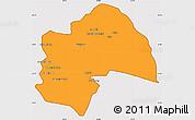 Political Simple Map of Al-Qadisiyah, cropped outside