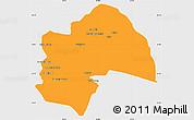 Political Simple Map of Al-Qadisiyah, single color outside