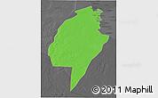 Political 3D Map of An-Najaf, darken, desaturated