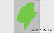 Political 3D Map of An-Najaf, lighten, desaturated
