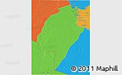Political 3D Map of An-Najaf