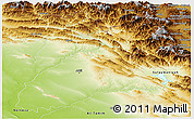 Physical Panoramic Map of Arbil