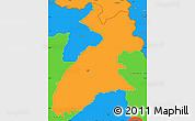 Political Simple Map of Arbil