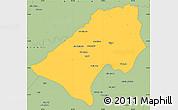 Savanna Style Simple Map of At-Tamim