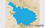 Political 3D Map of Babil, satellite outside