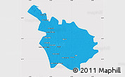 Political Map of Babil, cropped outside