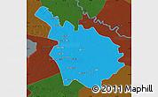 Political Map of Babil, darken