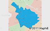Political Map of Babil, lighten