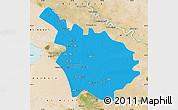Political Map of Babil, satellite outside