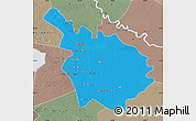 Political Map of Babil, semi-desaturated