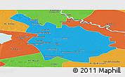 Political Panoramic Map of Babil