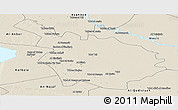 Shaded Relief Panoramic Map of Babil