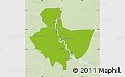 Physical Map of Baghdad, lighten