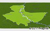 Physical Panoramic Map of Baghdad, darken