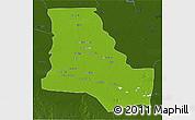 Physical 3D Map of Dhi-Qar, darken