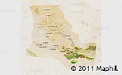 Satellite 3D Map of Dhi-Qar, lighten
