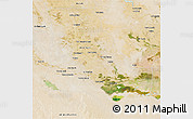 Satellite 3D Map of Dhi-Qar