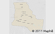 Shaded Relief 3D Map of Dhi-Qar, lighten, desaturated