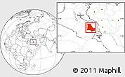Blank Location Map of Dhi-Qar