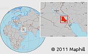 Gray Location Map of Dhi-Qar