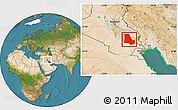 Satellite Location Map of Dhi-Qar
