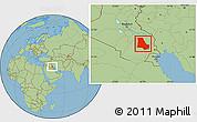 Savanna Style Location Map of Dhi-Qar