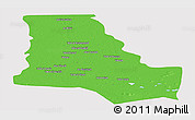 Political Panoramic Map of Dhi-Qar, cropped outside