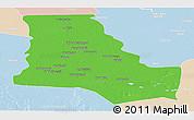 Political Panoramic Map of Dhi-Qar, lighten