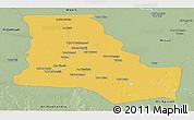 Savanna Style Panoramic Map of Dhi-Qar