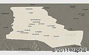 Shaded Relief Panoramic Map of Dhi-Qar, darken