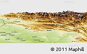 Physical Panoramic Map of Dihok